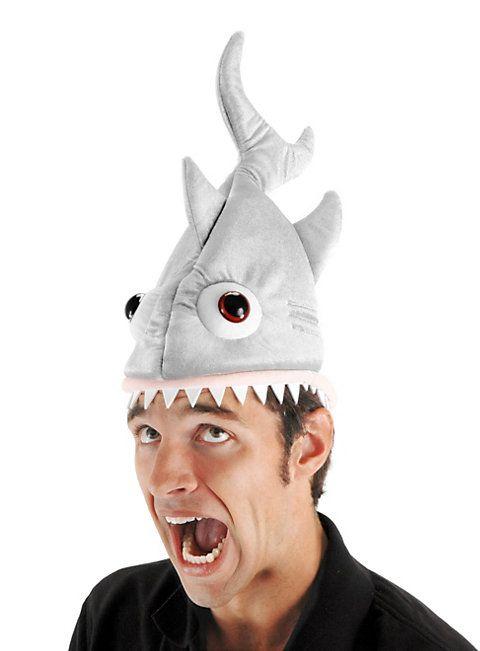 Lustige Hai-Mütze von maskworld.com