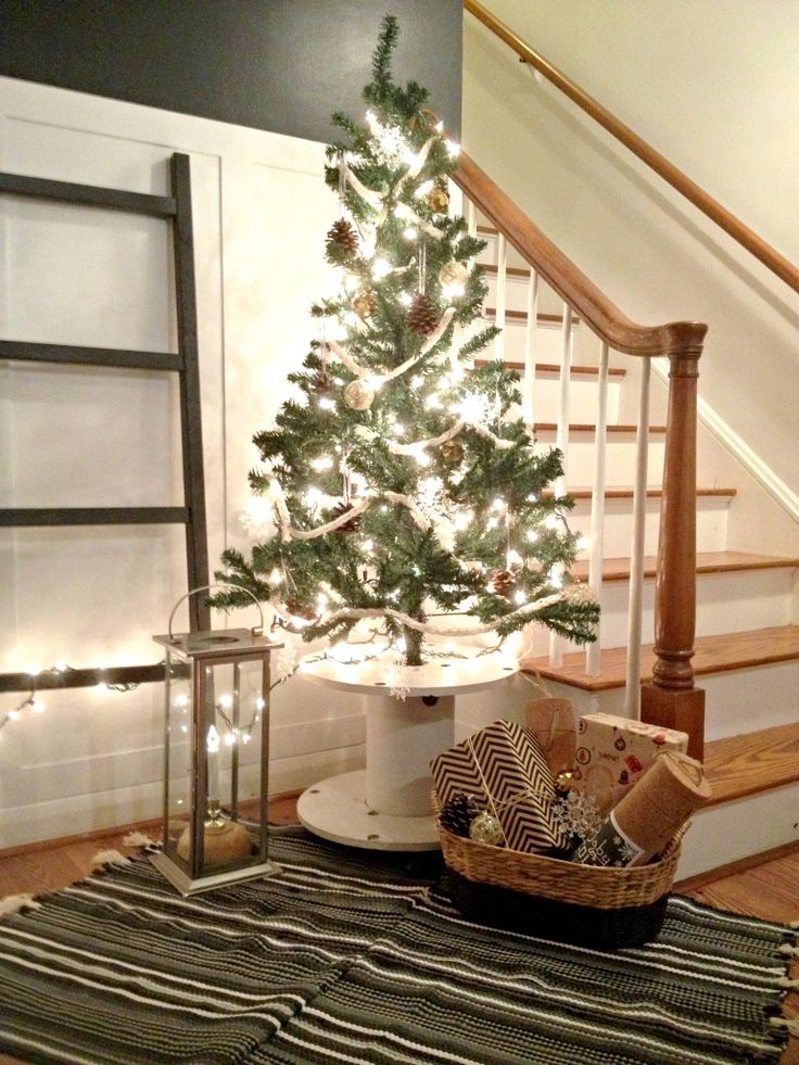 12 Posts of Christmas - Cable Spool Tree Stand | Houseologie