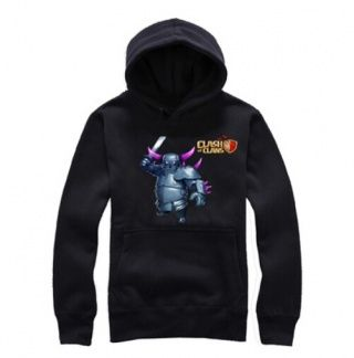 Clash of Clans mens fleece hoodie COC game P.E.K.K.A printed