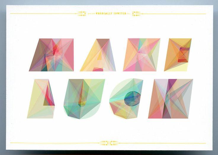 Lovely invitations.: Keetra Dean, Cordial Invitations, Deandixon, Dean Dixon, Colors, Dean O'Gorman, Graphics Design, Geometric Shape, Letters