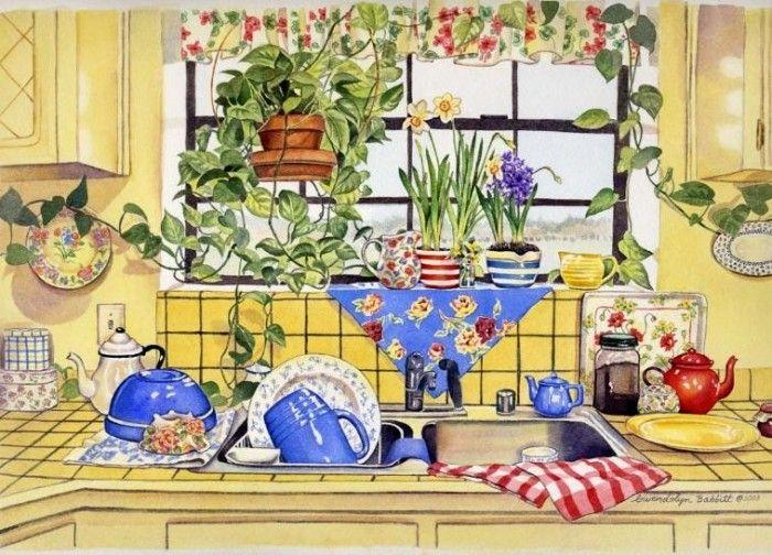 Puzzles De Cocina | Mejores 190 Imagenes De Decoupage Cocina En Pinterest Colorante