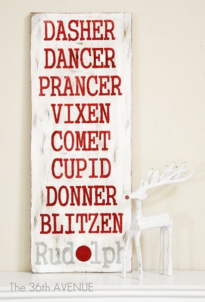 Oh Deer! DIY Christmas Sign...next months project?