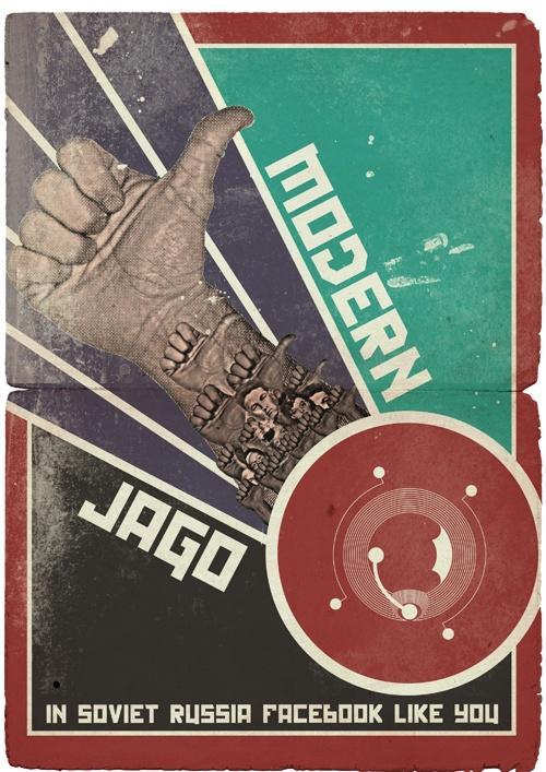 NFC Poster - Facebook Like - Russian Propaganda Style @33Digital @Modern Jago