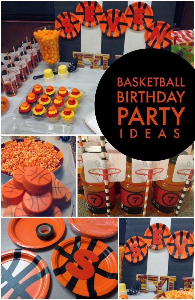 Basketball Birthday Party Ideas for Boys - Spaceships and Laser Beams