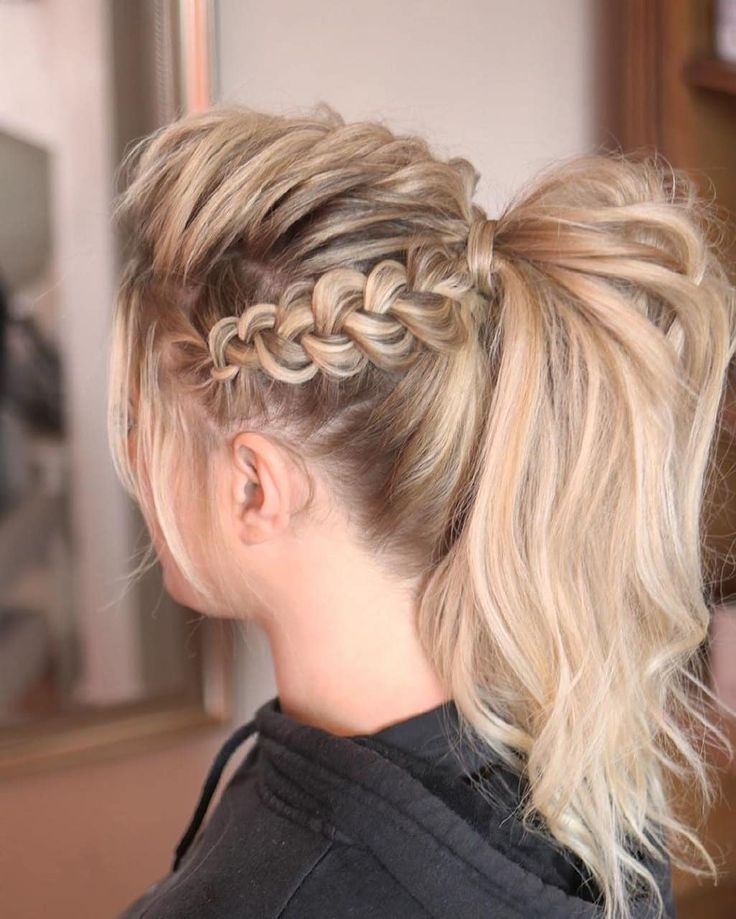 Hair Tutorials Tips On Instagram 1 2 3 4 5 6 7 8 Or 9 Follow Us Besthairtutorial For More Credit Sweethearts Hair Braided Ponytail Hairstyles Ponytail Hairstyles Ponytail Styles