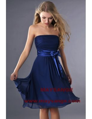 Robe bleu-robe de cocktail-maysange