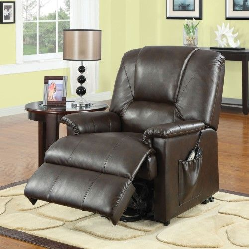 Acme Furniture Reseda Massage Recliner Brown Power