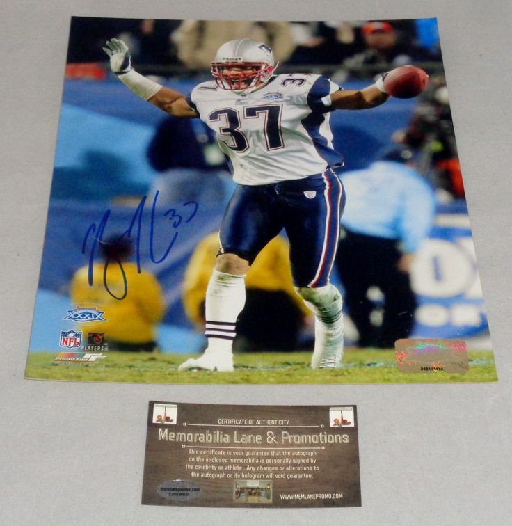 Rodney Harrison PATRIOTS Super Bowl XXXIX autograph 8x10 COA Memorabilia Lane & Promotions