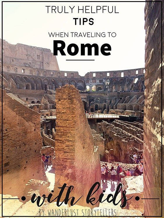 Essential Hints for Families when traveling to Rome with Kids!