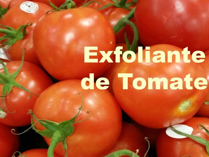 Exfoliante Natural de Tomate. El tomate contiene antioxidantes y Vitaminas que son de mucho beneficios para la piel.