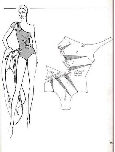 Bathing suit, pattern instructions