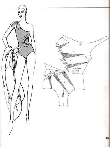 Bathing suit, pattern instructions