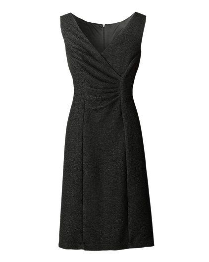 Crinkled V-neck dress