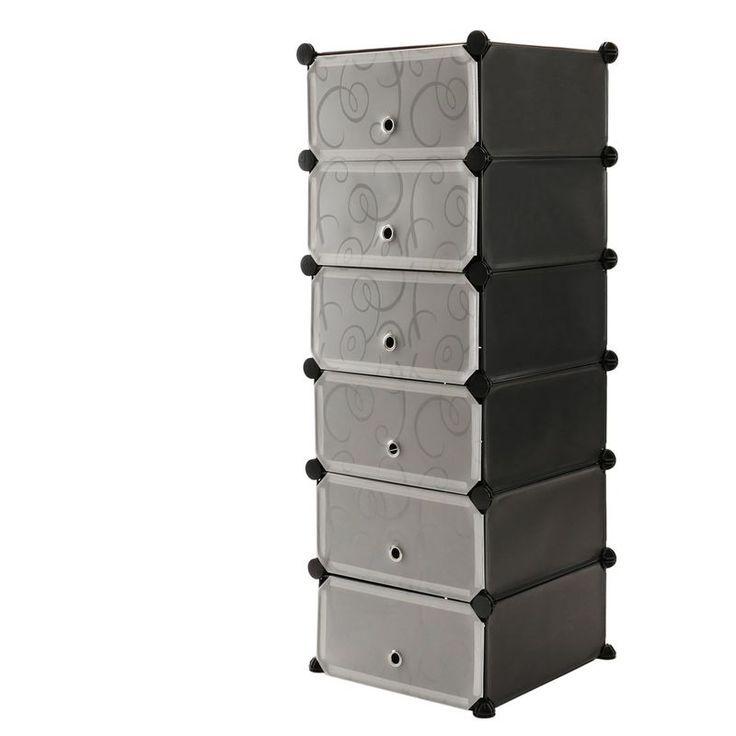 Primematik Wardrobe Closet Wardrobe With 6 Cubes Of