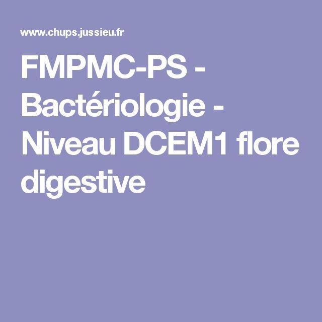 FMPMC-PS - Bactériologie - Niveau DCEM1 flore digestive