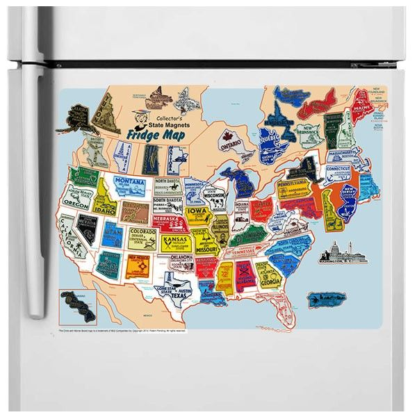 Best USACanada Magnet StateProvince Set IncludesFREE - Us map by state and companies
