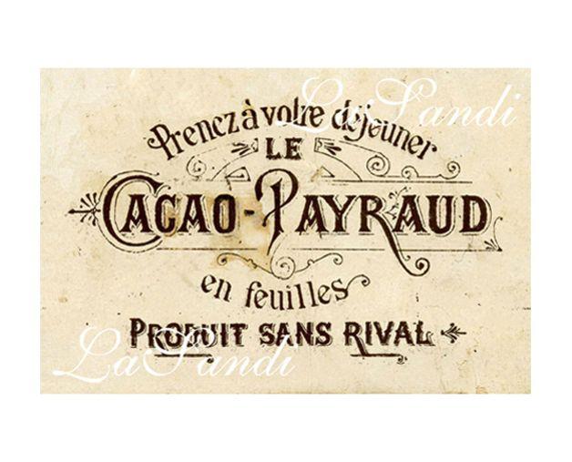Bügelbild Selber Machen : b gelbild vintage cacao payraud sepia vintage ~ Watch28wear.com Haus und Dekorationen