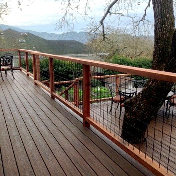 Welded Mesh Level Rail Panels By Wild Hog Railing Deck Railings