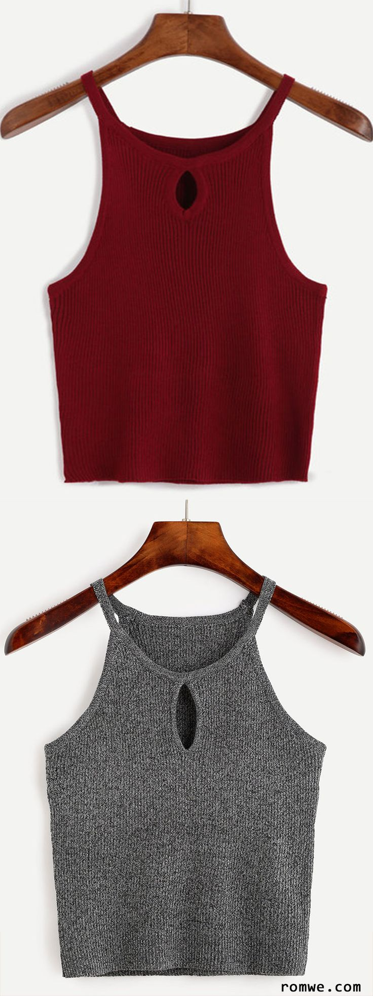Keyhole Front Marled Cami Top