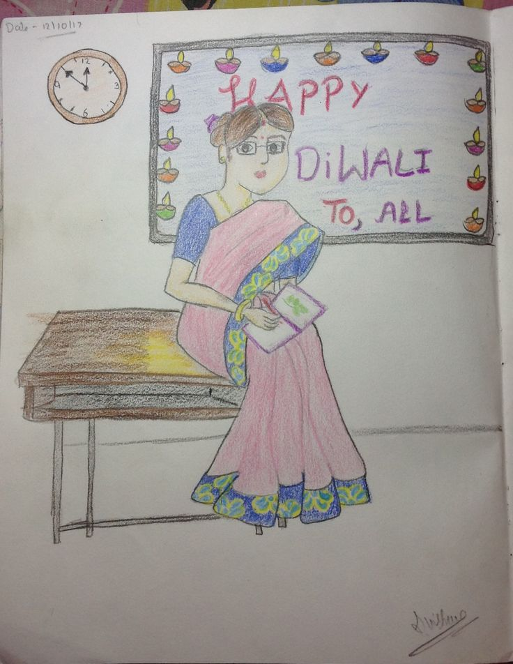 Diwali seen of a classroom from
