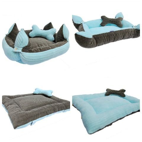 Cama para perro reversible y combinable - Divine Chien Dog Accesories, Cat Accessories, Personalized Dog Beds, Dog Beds For Small Dogs, Dog Blanket, Pet Beds, Baby Dogs, Diy Stuffed Animals, Pet Clothes
