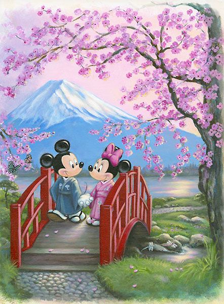 Mickey Mouse - The Promise - Minnie - Annick Biaudet - World-Wide-Art.com