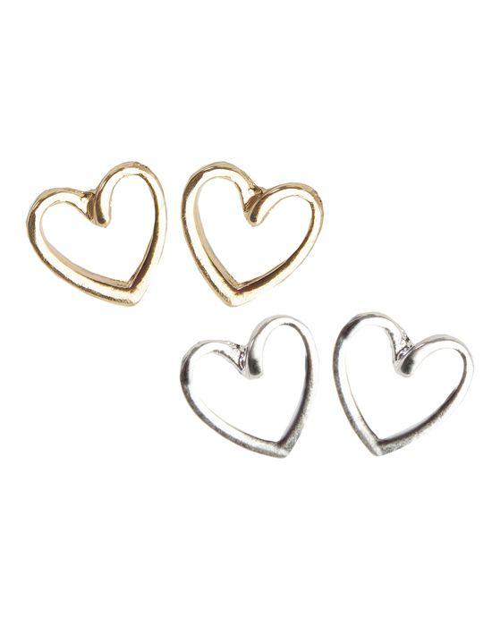 Aspire Style open heart earrings