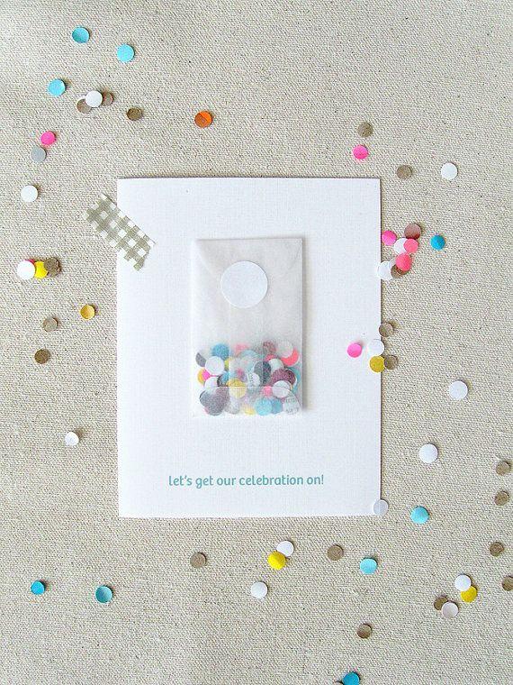 Celebrate Confetti Cards, $14.75 / 5