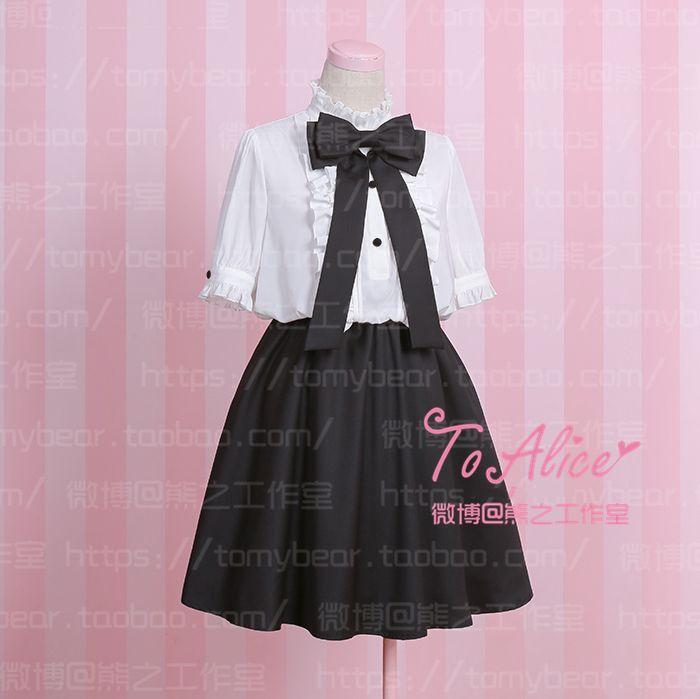 Aliexpress.com :  Einfache niedlich vintage adrette kurzarm black & white patchwork sommer dress one piece mit großer bogen von verlässlichen Kleider-Lieferanten auf Meow Girl kaufen