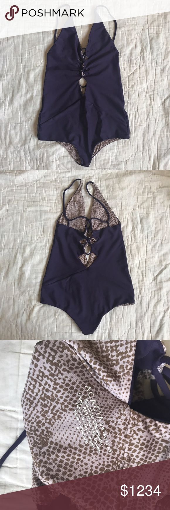 [Offer] Blackberry Kokomo P- flawless! NOT MY ASKING PRICE (obviously). ----Not really sure about letting this go, but probably looking to trade for another Kokomo in Classic, seaweed/storm, topless/storm. Will also trade for a humuhumu and polihale crochet set in sky or clay, size M. Will sell for $195🅿️🅿️ or the Poshmark equivalent. acacia swimwear Swim One Pieces