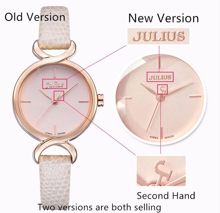 Top Julius Women's Lady Wrist Watch Concise Fashion Hours Dress Bracelet Simple Leather School Lovers Girl Birthday Gift JA-694