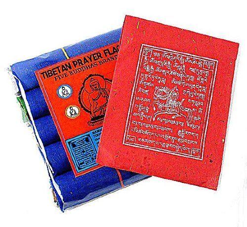 "TARA PRAYER FLAGS ~ 5 Rolls Bulk Bonus Pack ~ Medium ~ 5"" x 7"" ~ Includes Bonus Packet of Indoor Windhorse Prayer Flags ~ Five Buddhas Brand by Shambala Shop. $18.95"