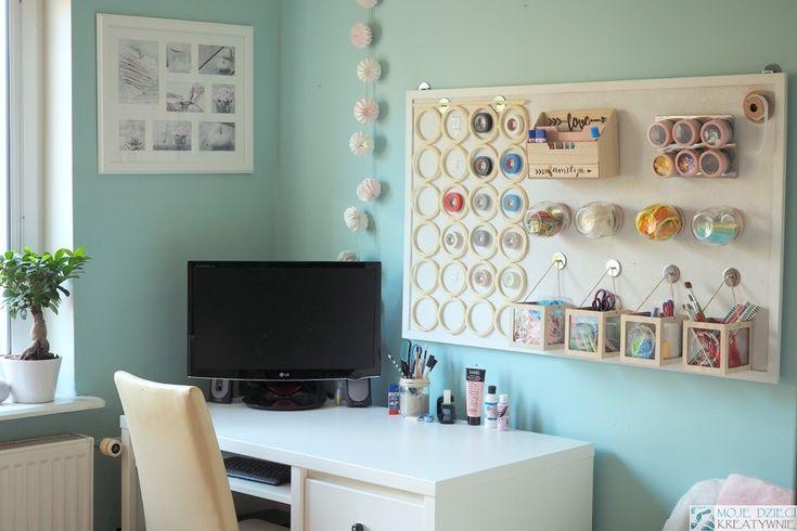 Organizer na ścianę z tablicy korkowej DIY