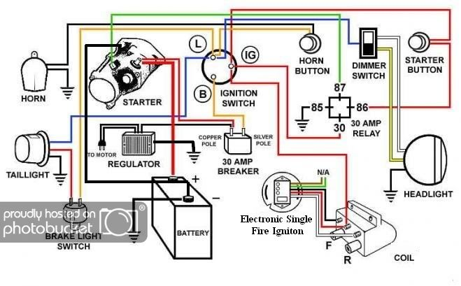 Single Fire Coil Motorcycle Wiring Electrical Wiring Diagram Electrical Diagram
