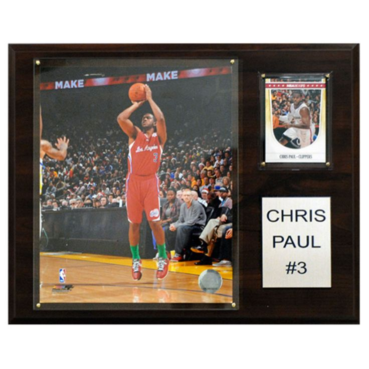 C and I Collectables NBA 15W x 12H in. Chris Paul Los Angeles Clippers Player Plaque - 1215CPAULLA