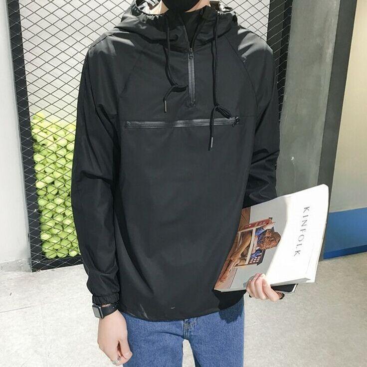 Korean style loose jacket for men Hip-Hop Waterproof Windproof Hoodies & Sweatshirts male sport pullover outerwear hiking jacket
