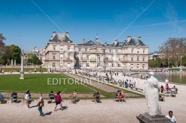 Le Jardin du Luxembourg, Paris Royalty Free Stock Photo