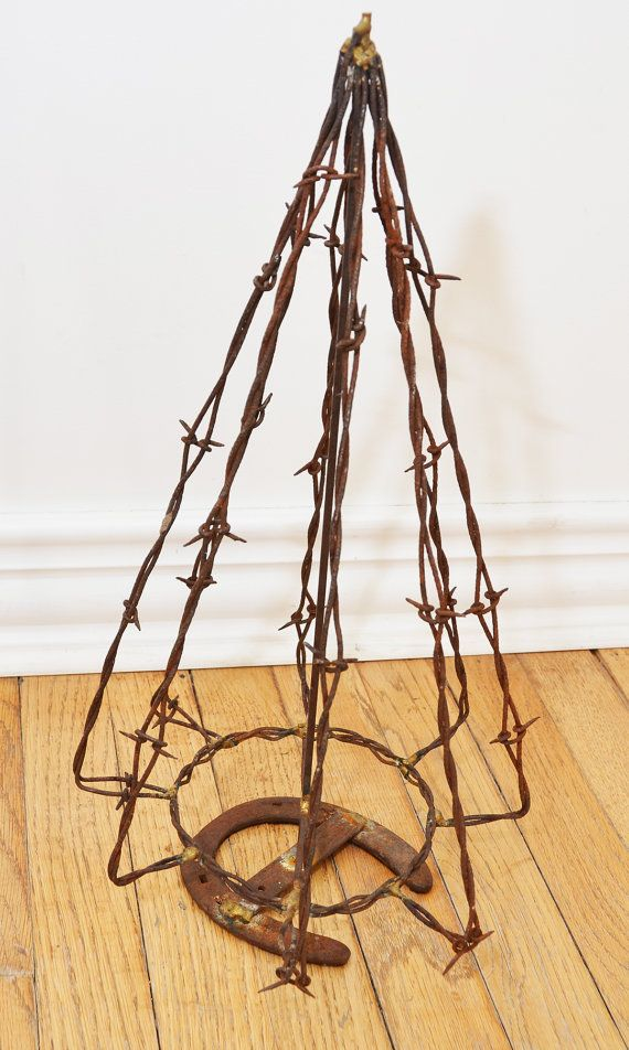 Antique Barbed Wire Christmas Tree Via Etsy
