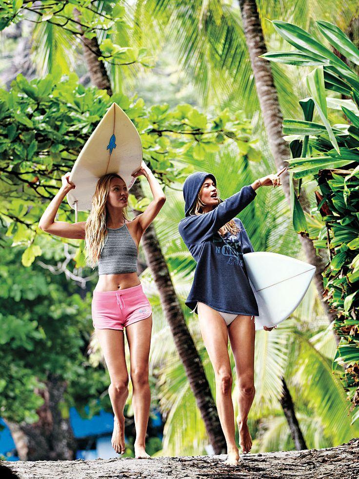 iluvbehatiprinsloolevine: Behati and Candice for Victoria's Secret.