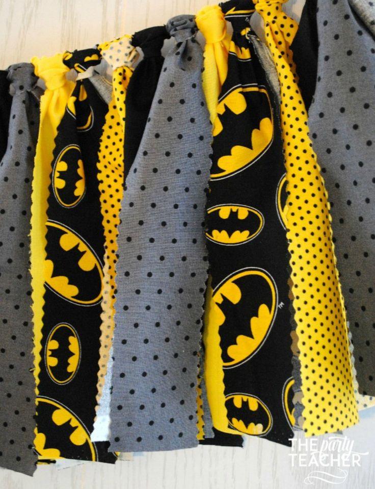 Batman Fabric Tie Garland