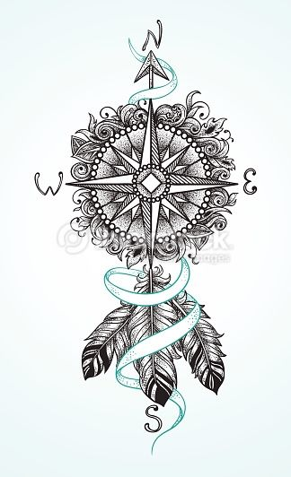 arrow compass tattoo - Tìm với Google