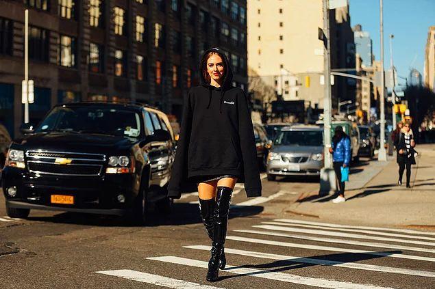 New York Moda Haftasından 18 İddialı Sokak Modası Fotoğrafı