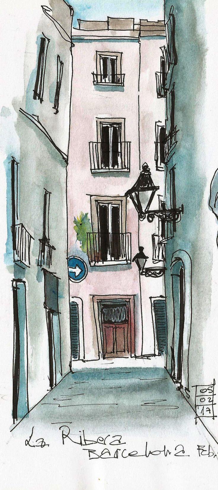 City sketching el Born elborn-barcelone-barcelona- urbansketching-croquisurbain…