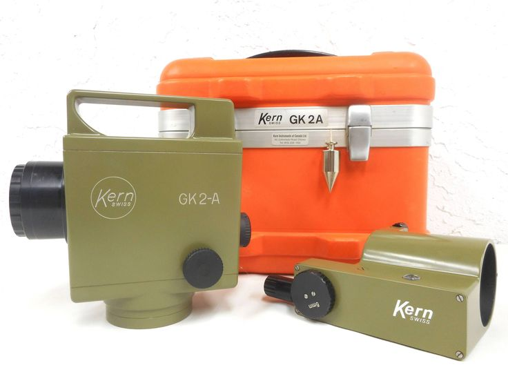 Kern GK2-A Automatic Precision Level Transit Surveyor with its Detachable Parallel Plate Micrometer and Original Case