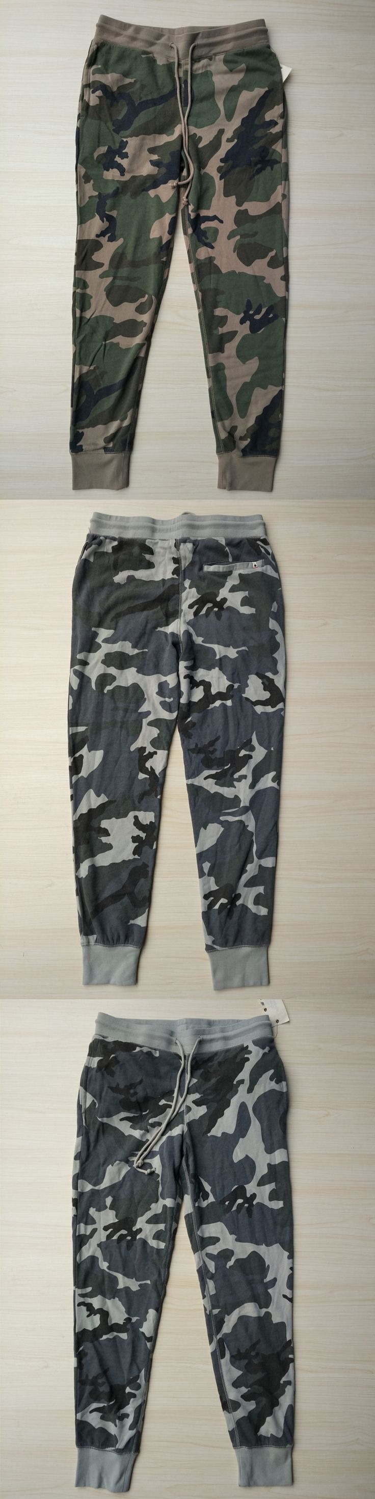 Men's Camouflage Print Fleece Pants USA Size S-XXL (Not Thick French Terry)