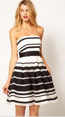 Coast Stripe Jackie Bandeau Dress :: wishlist worthy!