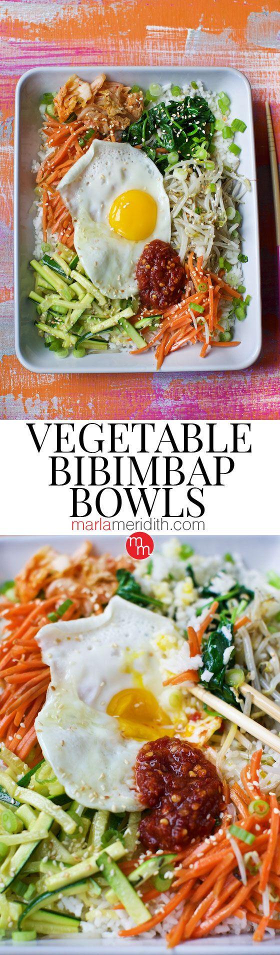 Vegetable Bibimbap Bowls recipe   MarlaMeridith.com ( @marlameridith )