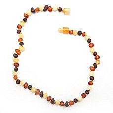 Amber Teething Necklace in Multi