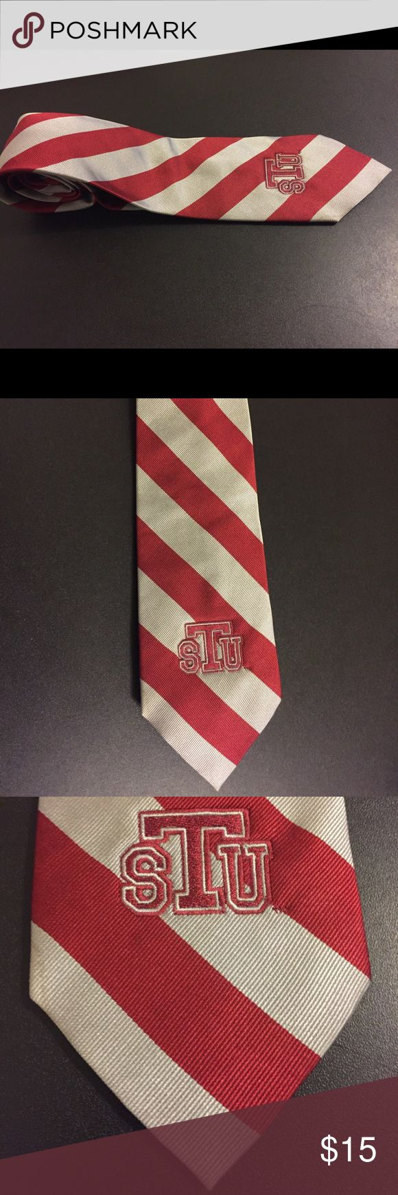 St. Thomas University STU College Classic Tie St. Thomas University STU Striped Tie  Men's Size: 58in Style: Classic Color: White/Red Brand: College Classic Condition: Pre Owned  Any questions, please ask!  JG. MINISTRIES College Classics Accessories Ties
