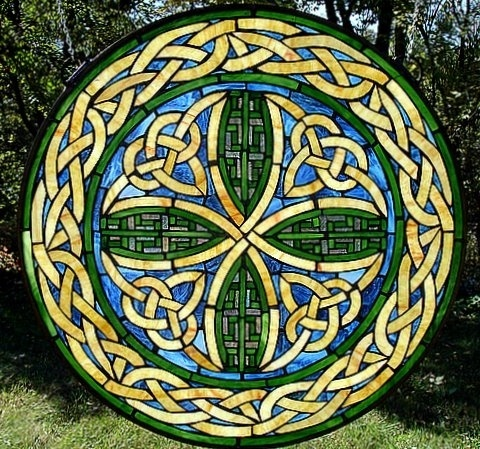 Celtic knot stained glass | kells | Pinterest
